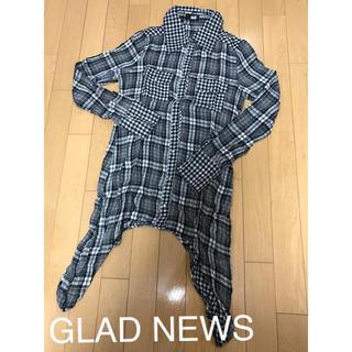 8764891794b26 グラッドニュース(GLAD NEWS)の新品 GLAD NEWS チェックシャツワンピース グラッドニュース マウジー