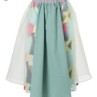 メリージェニー(merry jenny)のはるいろコンビスカート(ひざ丈スカート)