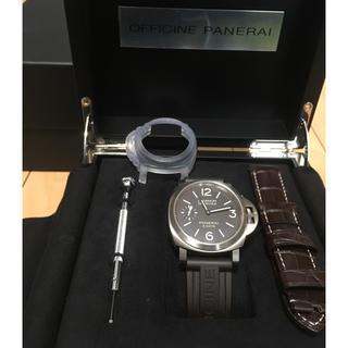 オフィチーネパネライ(OFFICINE PANERAI)の【新品同様】パネライ (LUMINOR BASE 8 DAYS TITANIO)(腕時計(アナログ))