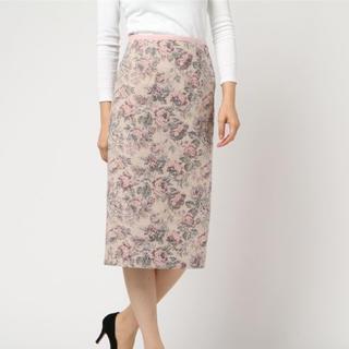 デイシー(deicy)のdeicy デイシー フラワーJQタイトスカート ベージュ M 新品(ひざ丈スカート)