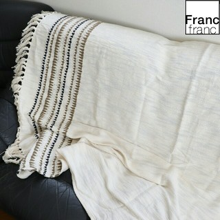 フランフラン(Francfranc)の❤新品タグ付き フランフラン コトーレ スロー【ホワイト】❤(ソファカバー)