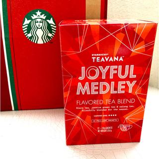 スターバックスコーヒー(Starbucks Coffee)の■新品未開封■スターバックス 紅茶セットティバーナ ジョイフルメドレー❣️12袋(茶)