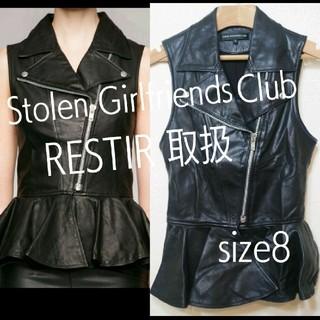 ストールンガールフレンズクラブ(STOLEN GIRLFRIENDS CLUB)のリステア取扱Stolen Girlfriends Club ぺプラム レザー (ベスト/ジレ)