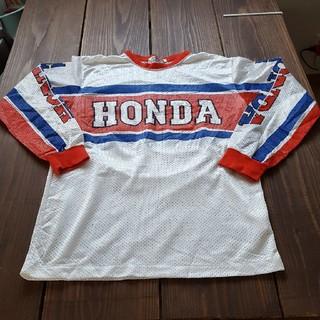 ホンダ(ホンダ)のvintage70s HONDA メッシュ長袖シャツ(モトクロス用品)