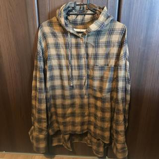スタイルナンダ(STYLENANDA)のSTYLE NANDA完売 フード付きチェックシャツ(シャツ/ブラウス(長袖/七分))