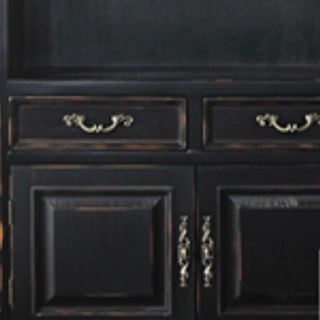 【送料無料!SALE!】【ブラックキャビネット】【アンティーク仕上げ】 インテリア/住まい/日用品の収納家具(棚/ラック/タンス)の商品写真