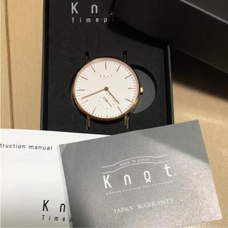 ノットノット(Knot/not)のknot 時計 ローズゴールド ピンクゴールド 本体 ノット(腕時計)