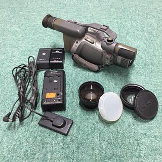 ソニー(SONY)のSONY 3CCD Hi8カメラ CCD-VX1 本体+オプションレンズ+他(ビデオカメラ)