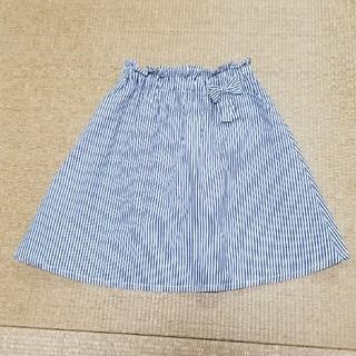 ブリーズ(BREEZE)のBREEZEストライプスカート140双子①(スカート)