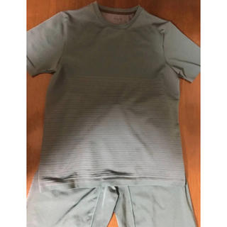 ジーユー(GU)のジーユースポーツ Tシャツ ハーフパンツ 上下セット ルームウエア M 緑(その他)