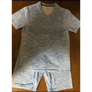ジーユー(GU)のジーユースポーツ Tシャツ ハーフパンツ 上下セット ルームウエア S 水色(その他)
