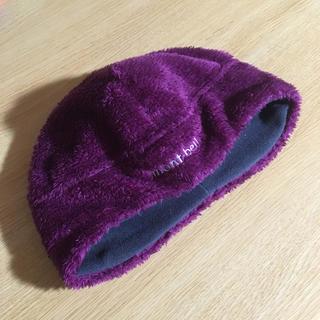 モンベル(mont bell)のmont bell モンベルニット帽紫色ビーニーアウトドア登山マラソンジョギング(ニット帽/ビーニー)