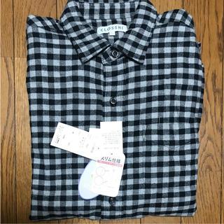 シマムラ(しまむら)の新品タグ付き チェックフランネルシャツ ブラック×グレー(シャツ)