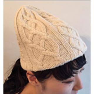 ネストローブ(nest Robe)のマチュアーハ matureha.*カシミヤニット帽(ニット帽/ビーニー)