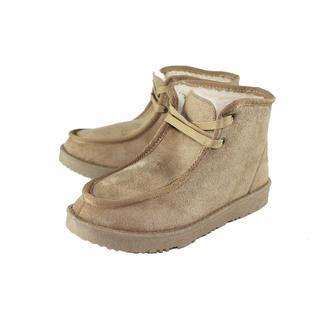 防寒ボアムートン ワラビモカシン ベージュ M(24.5~25cm)(ブーツ)