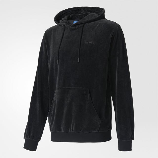 adidas(アディダス)のXS【新品/即日発送OK】adidas オリジナルス パーカー ベロア 黒 メンズのトップス(パーカー)の商品写真