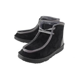 防寒ボアムートン ワラビモカシン 黒×灰 M(24.5~25cm)(ブーツ)