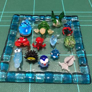 ガラス細工 海の生き物 14点セット(ガラス)