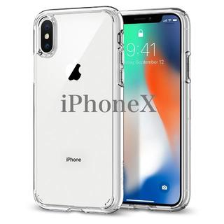 シュピゲン(Spigen)のアメリカブランド iPhone X ケース 米軍規格 クリスタルクリア(iPhoneケース)