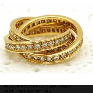 正規品 カルティエ トリニティリング フルダイヤ(リング(指輪))