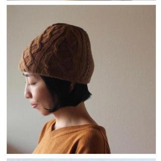 ネストローブ(nest Robe)のcorocoro様専用*マチュアーハ matureha.*ニット帽/ブラウン(ニット帽/ビーニー)
