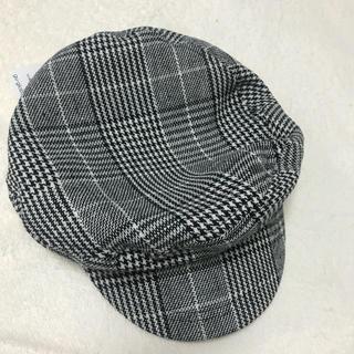 ジーユー(GU)のgu キャスケット ハット 帽子 新品 千鳥格子 チェック(キャスケット)