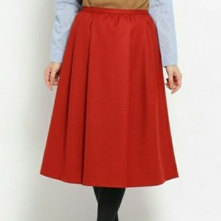 ♪5点以上特別セール♪soup ウール混タックフレアスカート