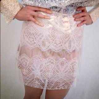 シモーヌリスト(SIMONE LIST)のsimone rocha ビニール レーススカート スカート(ミニスカート)