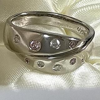 ピンクダイヤ♡プラチナ高級リング♡綺麗なダイヤです(リング(指輪))