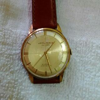 ロイヤルプリンス 手巻き アンティーク スイス ガラス交換済み(腕時計(アナログ))