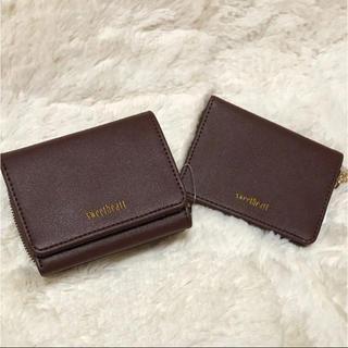 シマムラ(しまむら)の折りたたみミニ財布 ブラウン(財布)