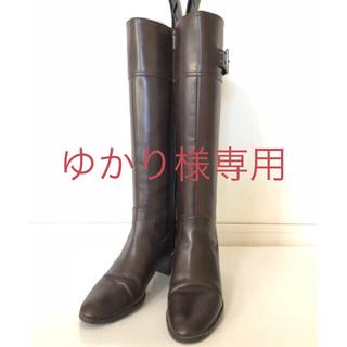 ダイアナ(DIANA)のダイアナ DIANA ロングブーツ サイドジップ 茶 21.5cm(ブーツ)