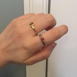 K18 vintageガーネットリング(リング(指輪))