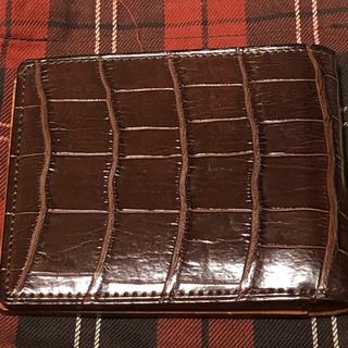 ガンゾ(GANZO)のGANZO スモール クロコ 純札入れ  未使用品・ 新品(折り財布)