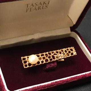 田崎真珠 ゴールド+本真珠 ネクタイピン 超レア