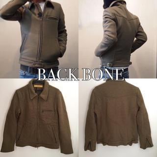 バックボーン(BACKBONE)の定価5万円 BACK BONE ニットメルトンシングルライダース(ライダースジャケット)