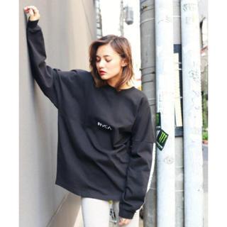 ルーカ(RVCA)の新品 RVCA TAPE LS ブラック Sサイズ ルーカ  ロンTシャツ 完売(Tシャツ/カットソー(七分/長袖))