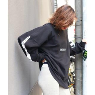 ルーカ(RVCA)の新品 RVCA TAPE LS ブラック Mサイズ ルーカ ロンTシャツ 完売(Tシャツ/カットソー(七分/長袖))