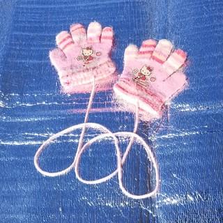 ハローキティ(ハローキティ)のキティちゃん 紐付手袋(手袋)