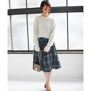 &.nostalgia チェックジャカードスカート(ひざ丈スカート)