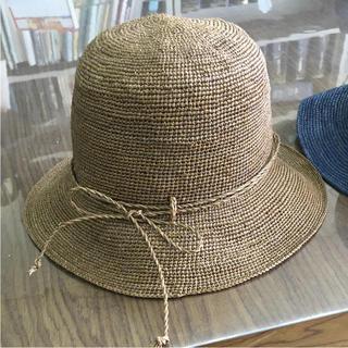 MUJI (無印良品) - 無印良品 ラフィア たためるキャペリン ブラウン 帽子