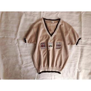 サボテン刺繍のVネックニット🌵(ニット/セーター)