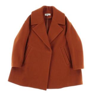 エンフォルド(ENFOLD)のパイルモッサ Aライン ショート コート オレンジ(ロングコート)