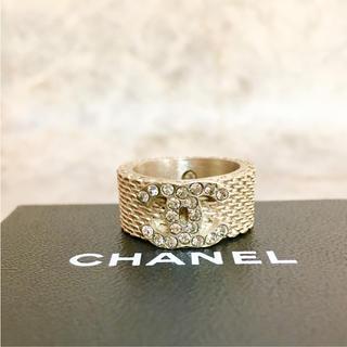 42a24c83f0be シャネル(CHANEL)の正規品 シャネル 指輪 ゴールド ココマーク ラインストーン チェーン リング