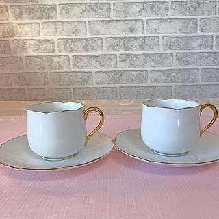 オオクラトウエン(大倉陶園)の新品未使用♡大倉陶園 デミ カップ&ソーサー ペア(食器)