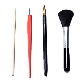 【新品*即発送】スクラッチアートペン▲4点セット◯細かい作業に最適◯専用ペン(絵筆 )