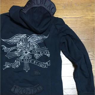 コールブラック(COALBLACK)のコールブラック  S フルジップパーカー 刺繍 イーグル パッチワーク(パーカー)