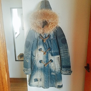 ゴーサンゴーイチプーラファム(5351 POUR LES FEMMES)のデニムファーコート(毛皮/ファーコート)