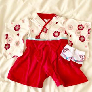 ベルメゾン(ベルメゾン)の袴ロンパース 女の子 60(和服/着物)