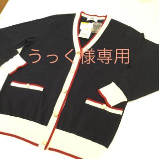 ジェイプレスレディス(J.PRESS LADIES)のJ PRESS 新品 Lサイズ  紺ニットカーディガン 定価¥19,000 (カーディガン)